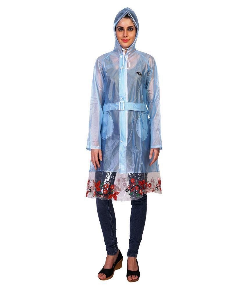 Zeel Blue Waterproof Raincoat