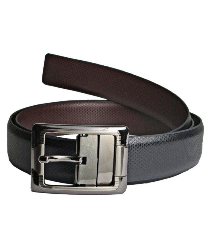 Galaxy Black Leather Belt For Men