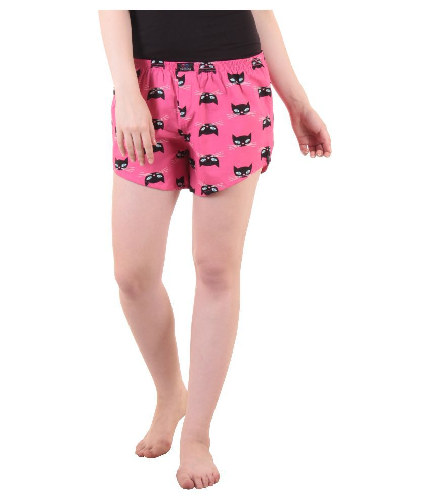 9fd3c450cc Buy Sweeicy Pink Cotton Night Shorts Online at Best Prices in India -  Snapdeal