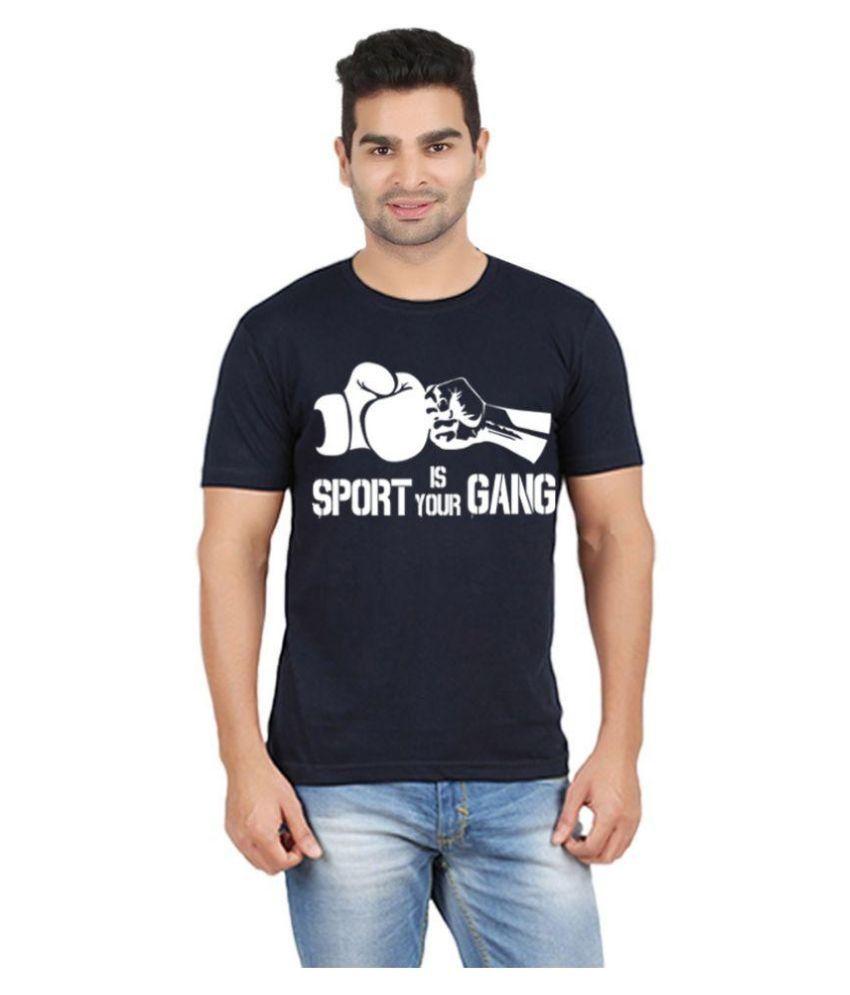 Gallop Navy Round T Shirt