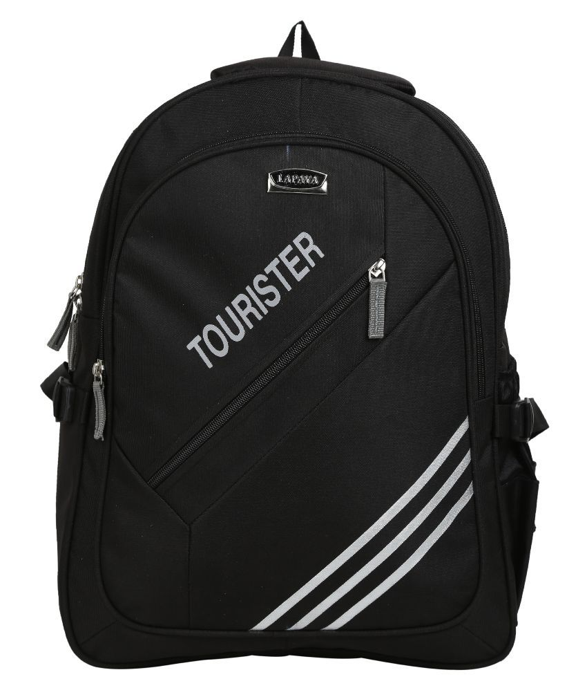Lapaya Black Nylon Laptop Backpack