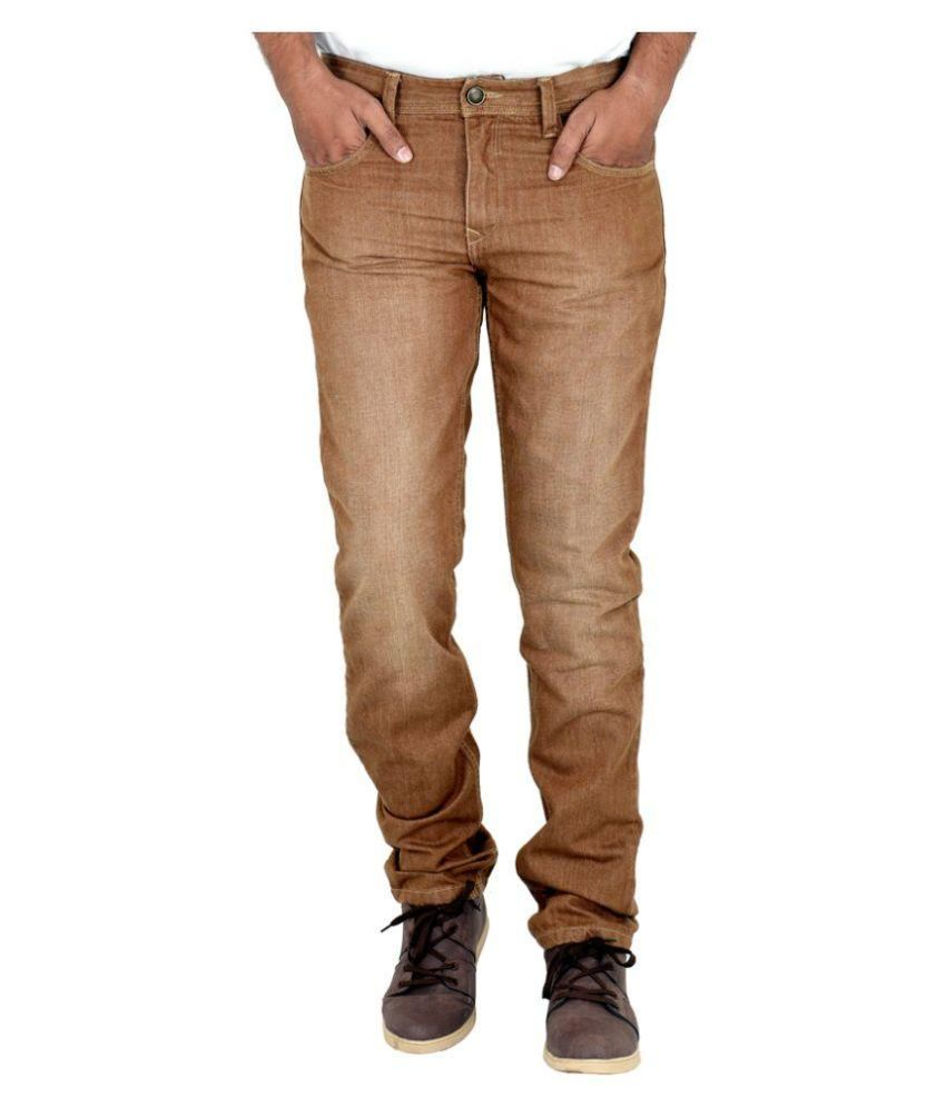INDIGEN Brown Slim Jeans