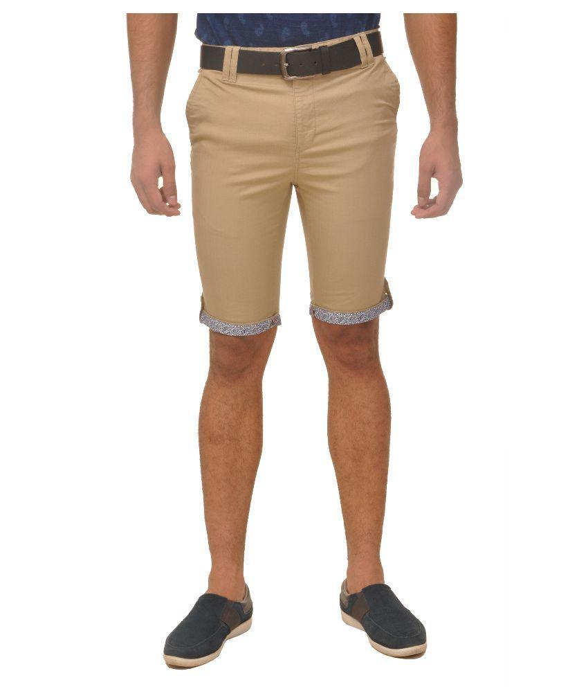 Fire On Beige Shorts