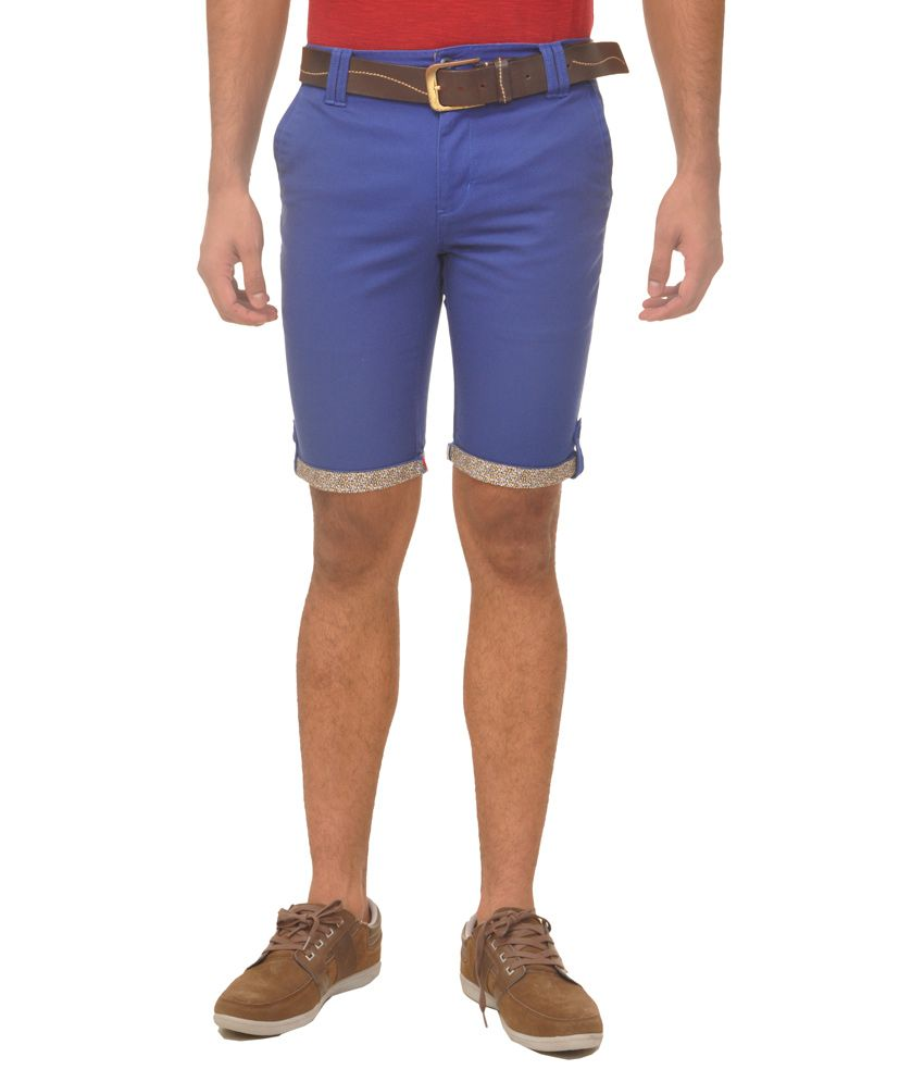 Fire On Blue Shorts