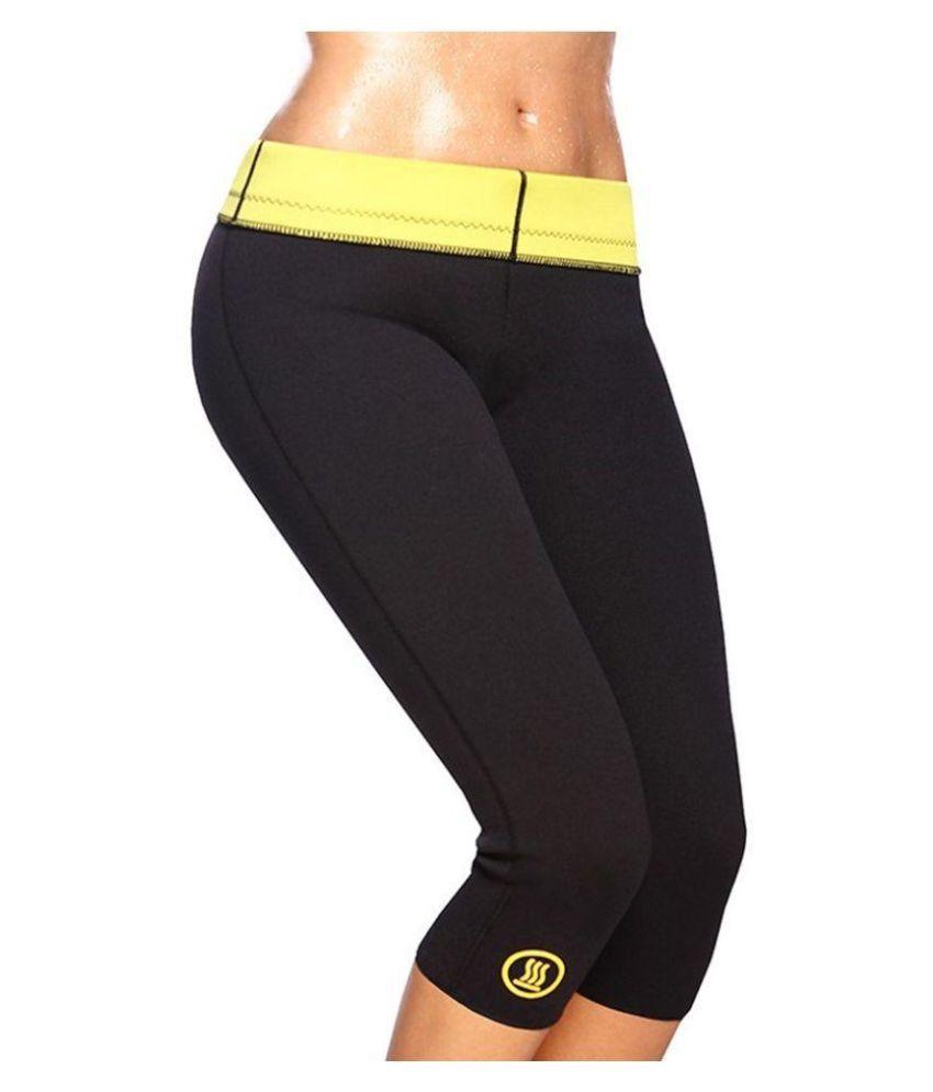 Jaatara Black Polyester Hot Slimming Shapers Short
