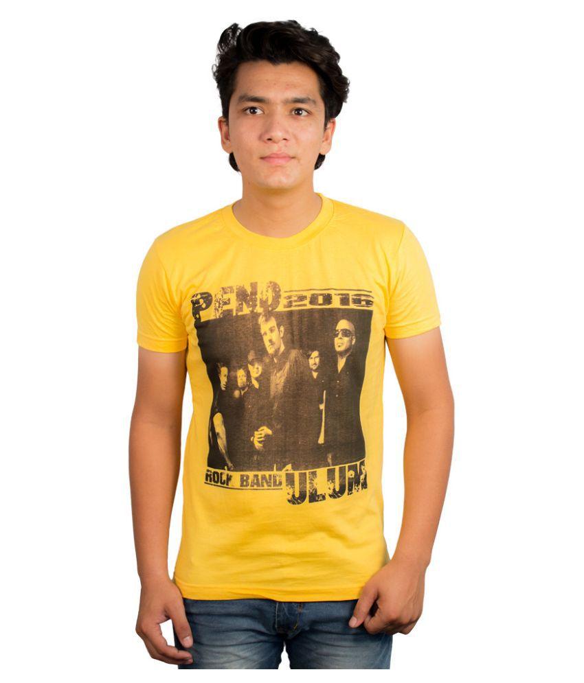 RenardFou Yellow Round T Shirt