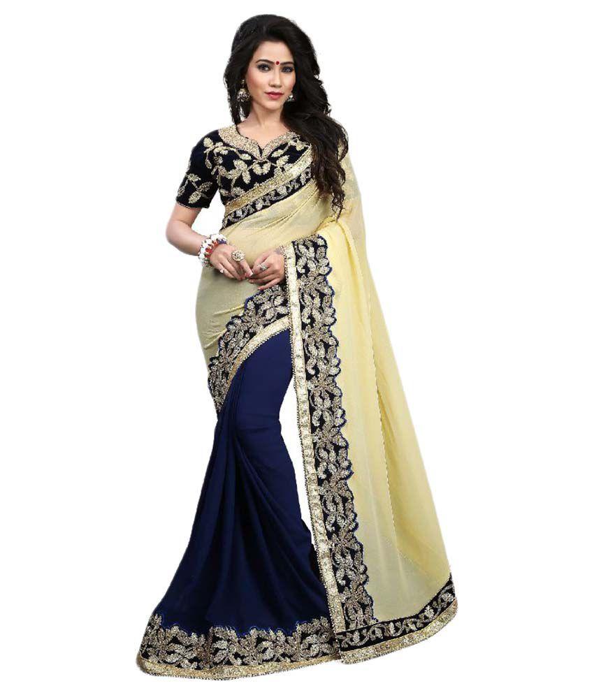 Shivanya Fashion Multi Color Georgette Saree