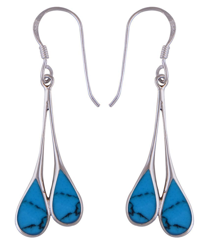 Silver Prince 92.5 Silver Turquoise Hangings