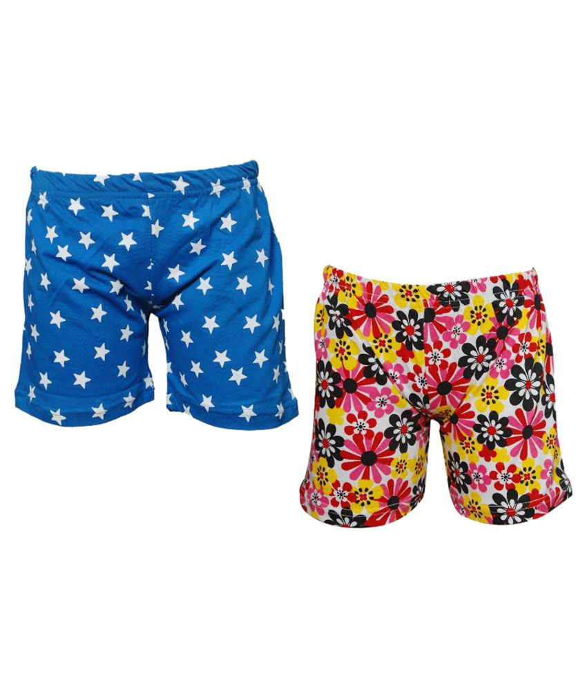 Little Stars Multicolor Cotton Shorts