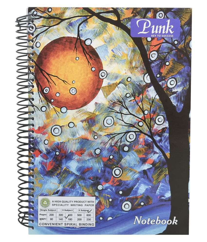 Punk a4 spiral notebook 500 pages pack of 3 buy online for Pages to buy online