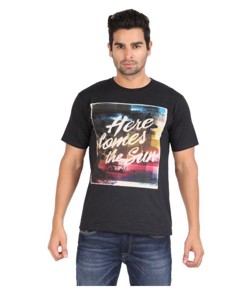 Zovogue Black Round T Shirt