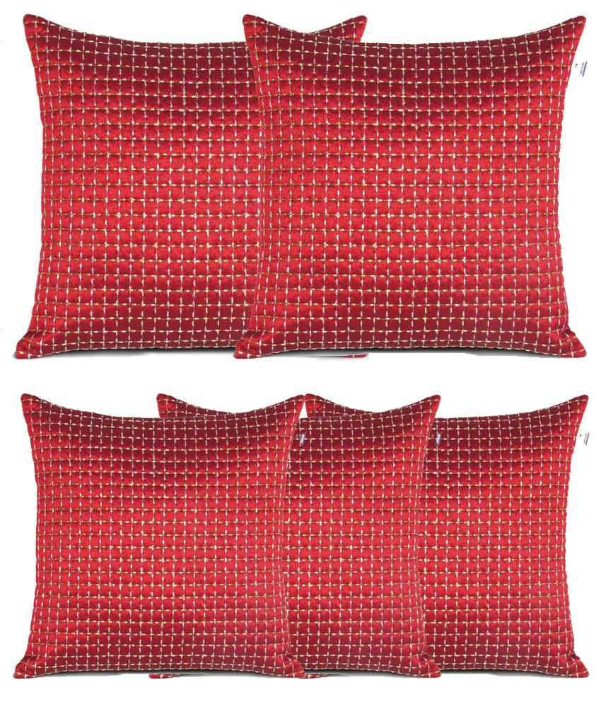 Hemden Set of 5 Polyester Cushion Covers
