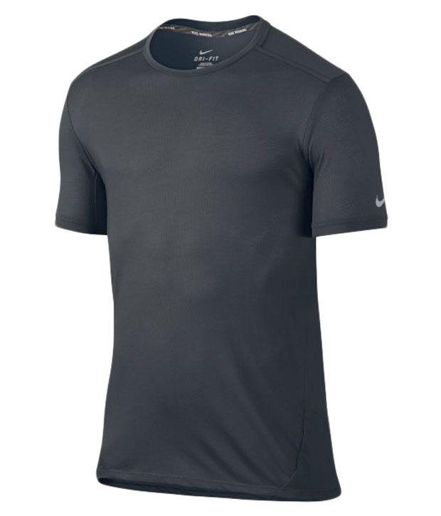 Nike Black Dri-Fit Cool Tailwind Running Shirt for Men