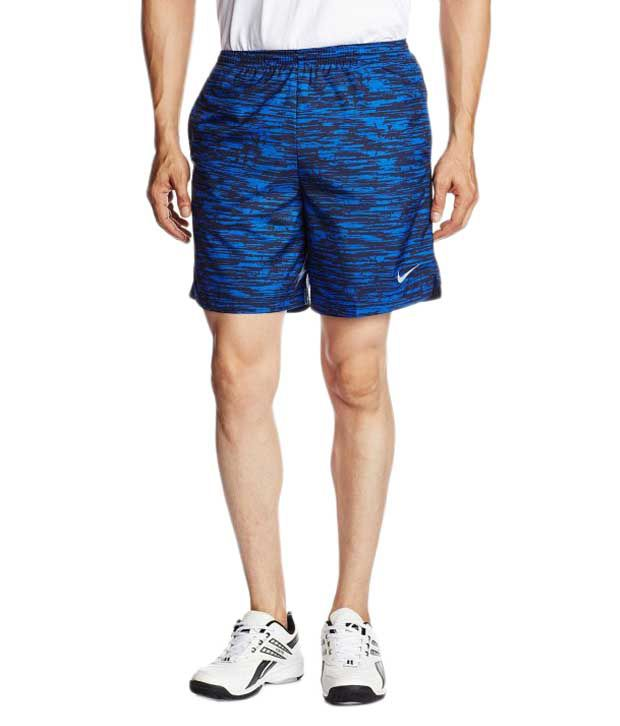 Nike Blue Polyester Shorts for Men
