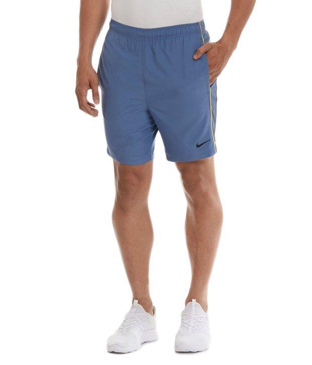 Nike Blue Polyester Shorts for Men