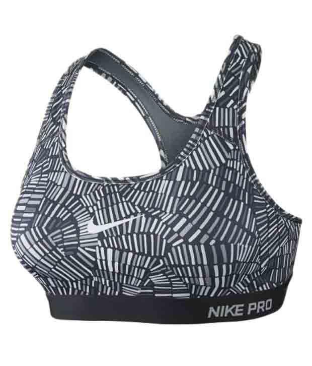 Nike Grey Pro Clsc Pad Tidl Mlt for Women