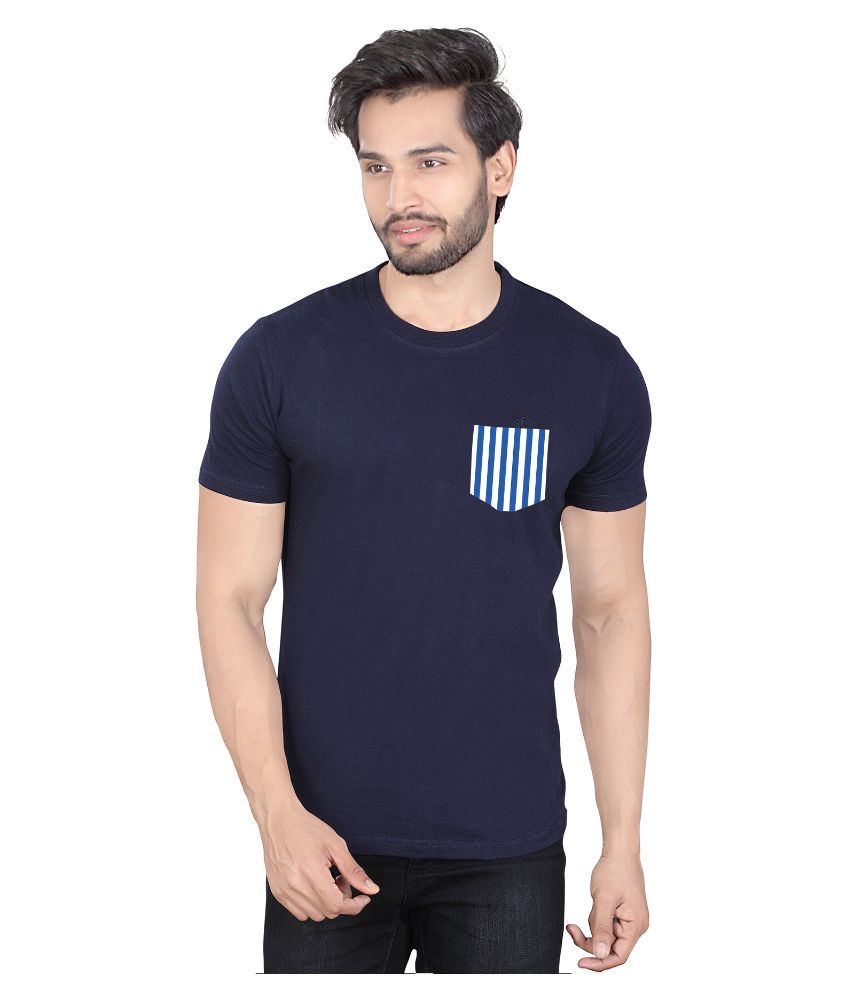 LUCfashion Blue Round T Shirt