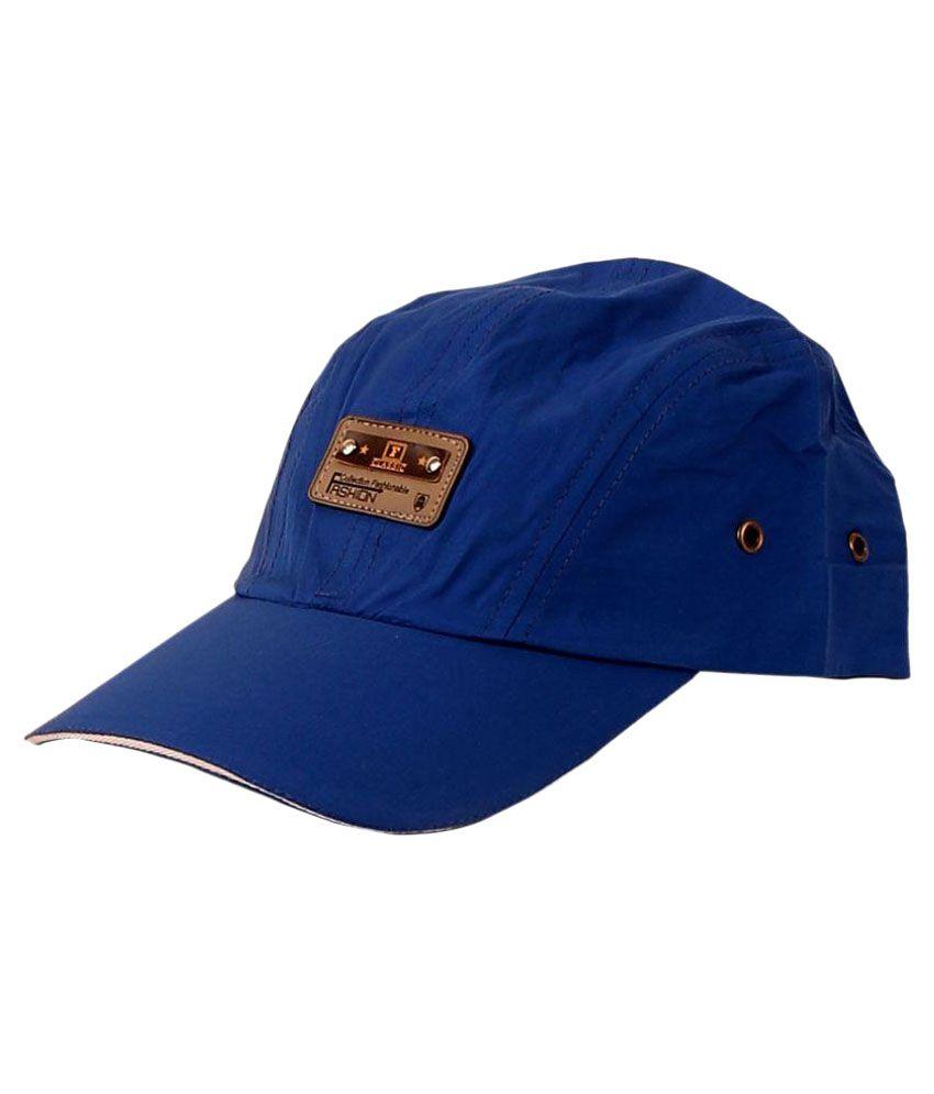 Lucky Enterprises Blue Polyester Cap for Men