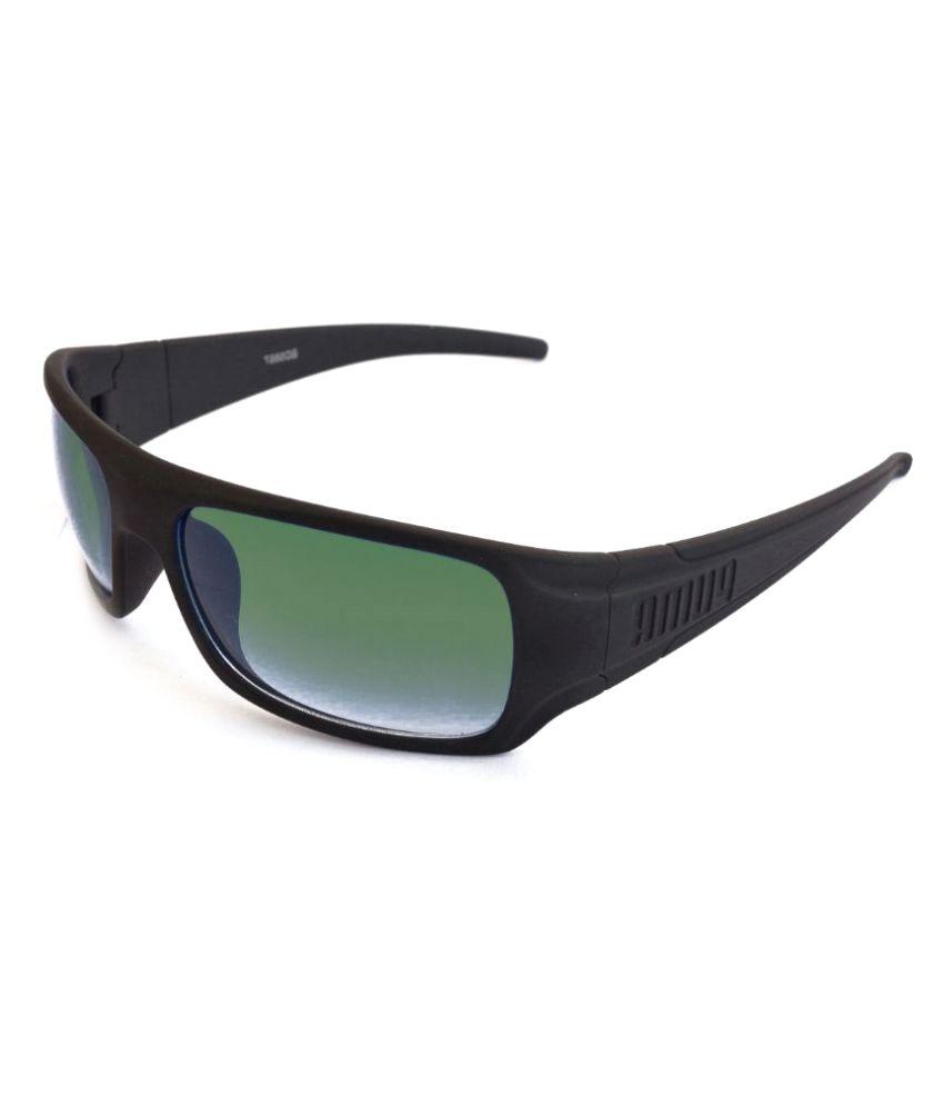 Sunrayz Green Wrap Around Sunglasses ( Wrapp )