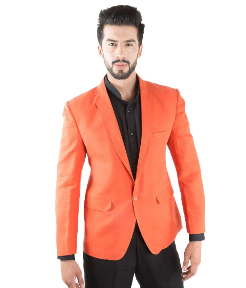 Jahanpanah Orange Party Blazers