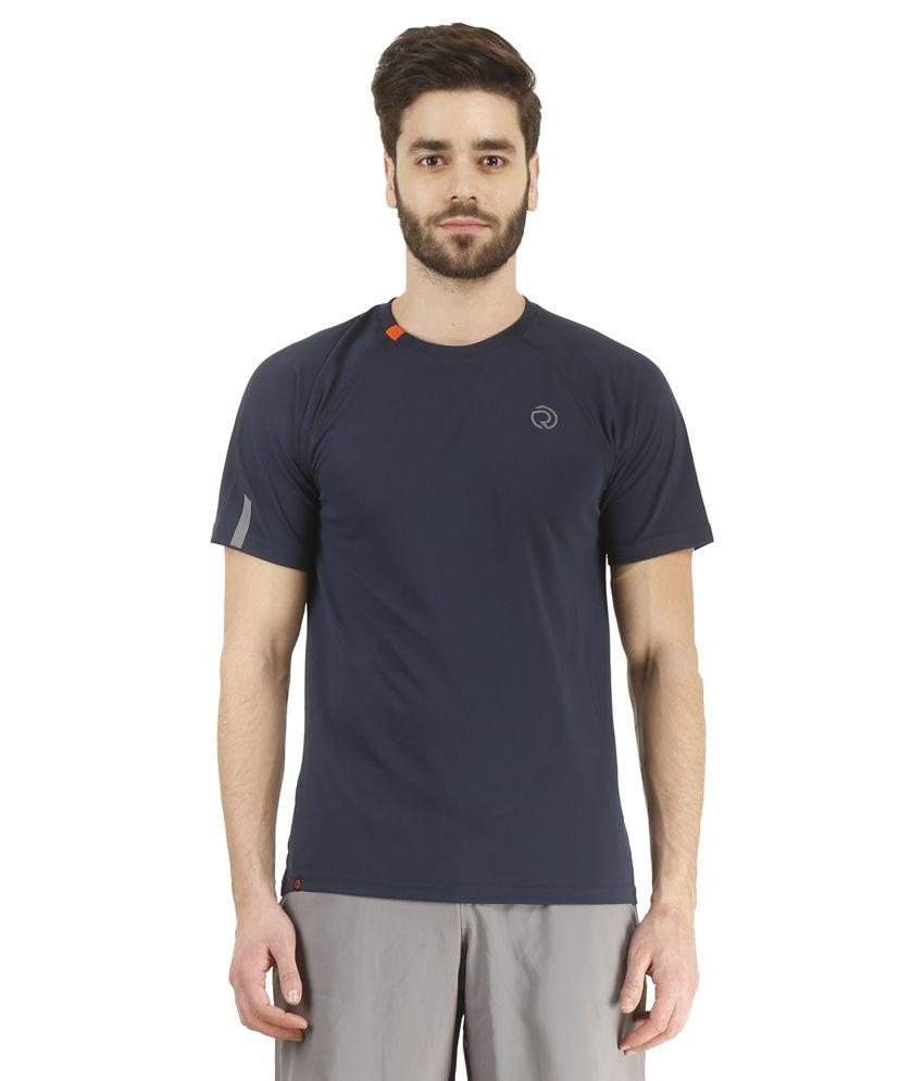 Revo Navy Polyester T-Shirt