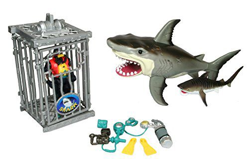 Shark Toys And Games : Shark attack figure playset animal planet buy