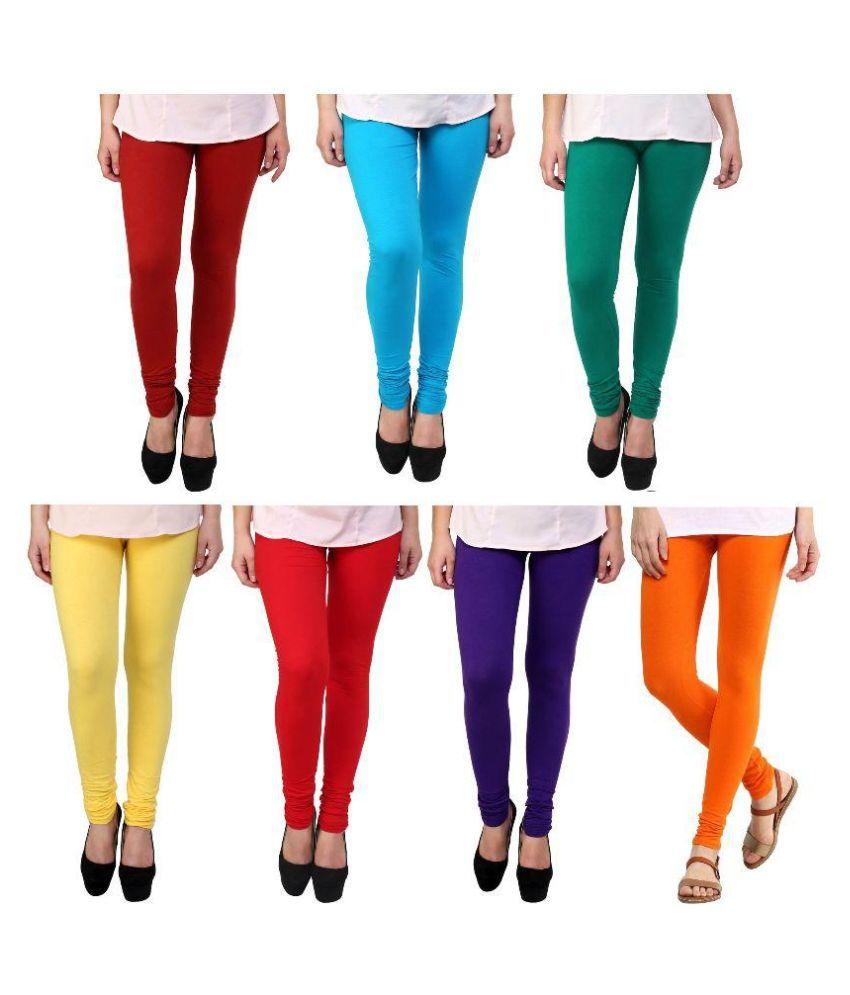 03f9e79a1f8c6 Legemat Multicolour Girls Leggings - Pack of 7 - Buy Legemat Multicolour  Girls Leggings - Pack of 7 Online at Low Price - Snapdeal