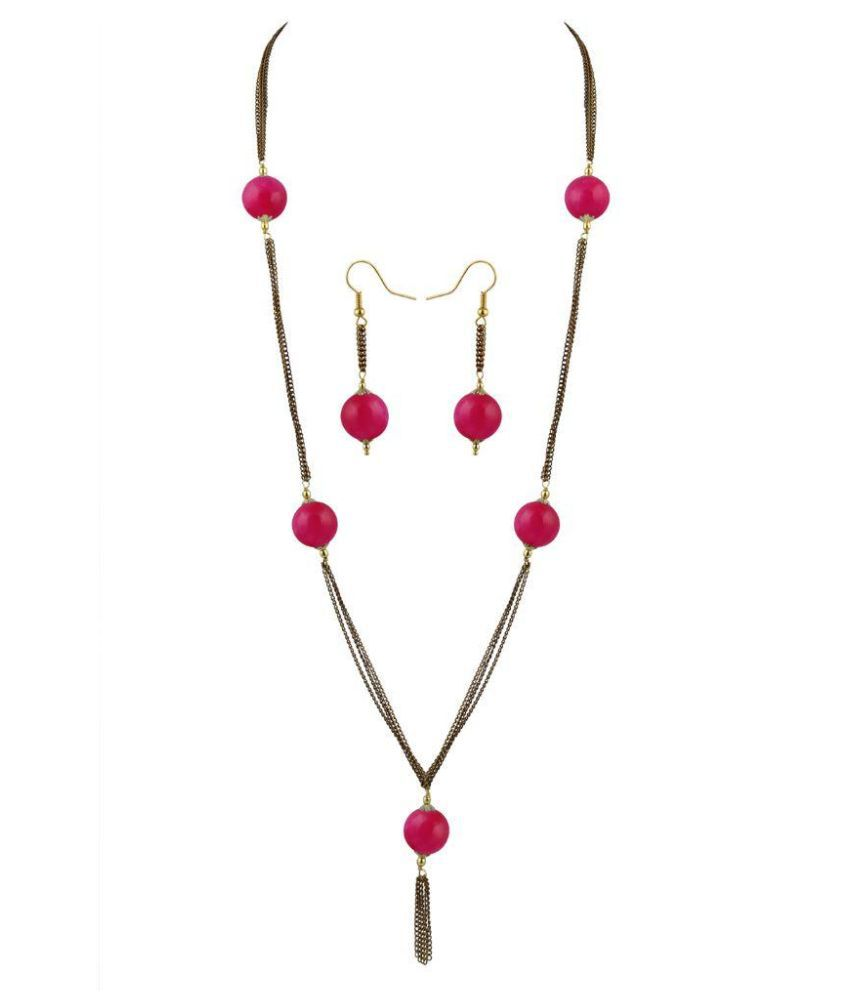 Pearlz Ocean Pink Necklace Set