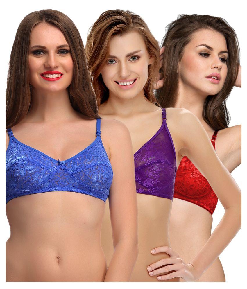 Clovia Multi Color Lace Bras