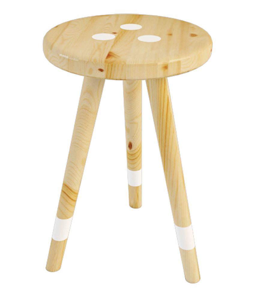 Smalshop AquaMint Solid Wood Side Table