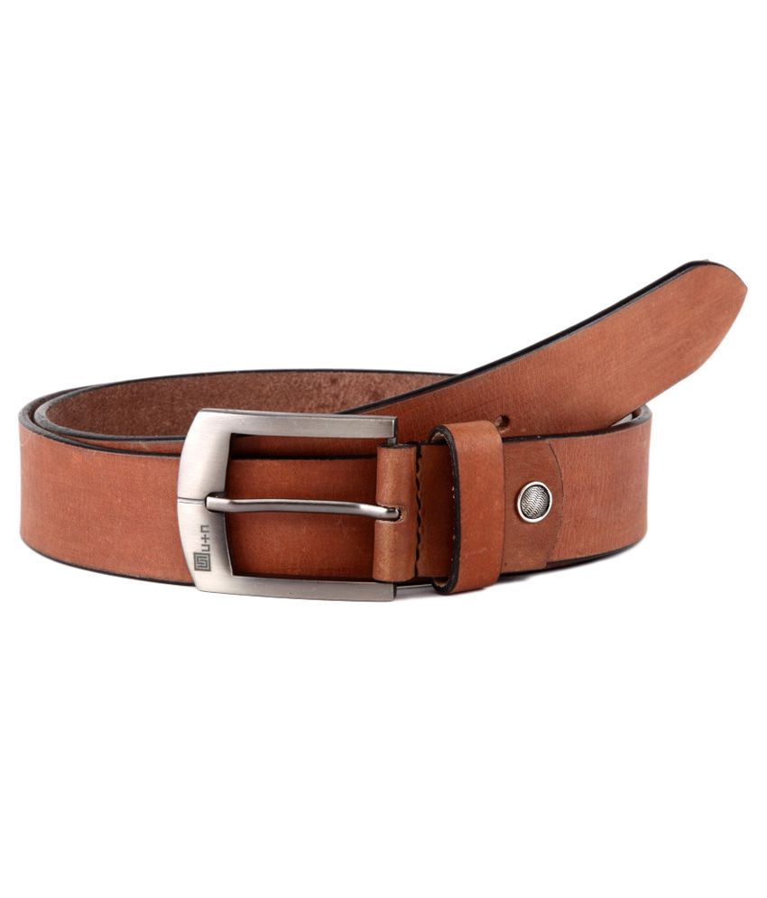 U+N Brown Leather Belt