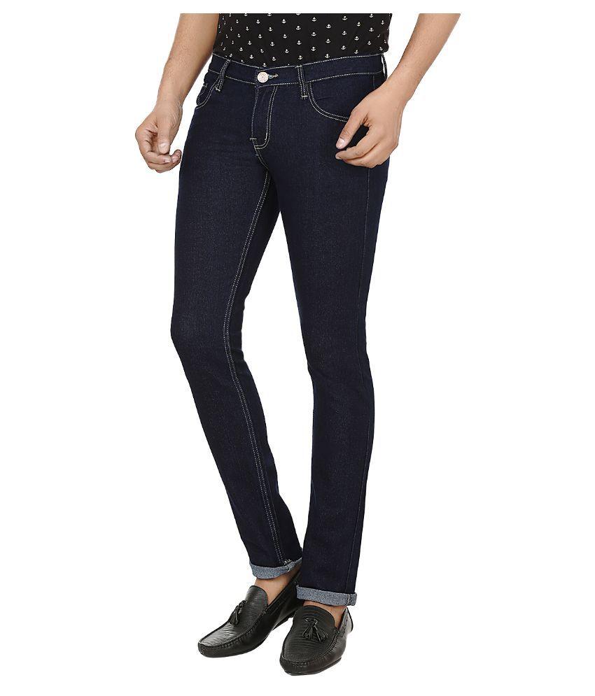 Ben Carter Navy Slim Fit Solid Jeans