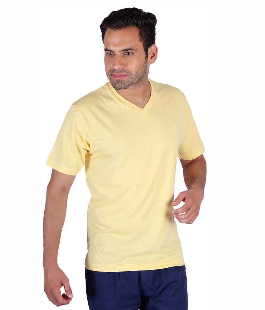 HUMBERT Yellow V-Neck T-Shirt