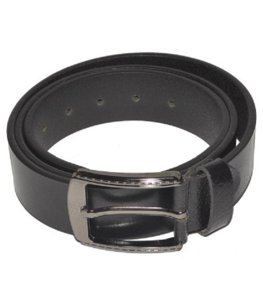 Laveri Black Leather Belt for Men