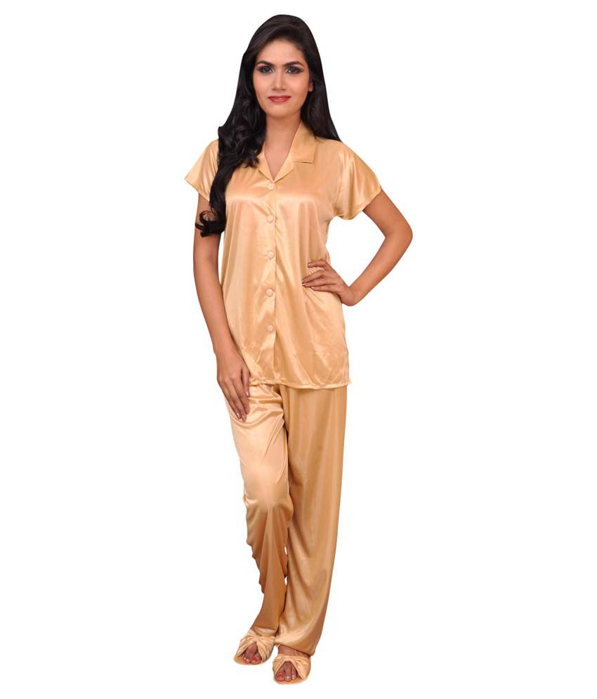 3bb04679f1 Buy Melisa Gold Poly Satin Nightsuit Sets Online at Best Prices in India -  Snapdeal