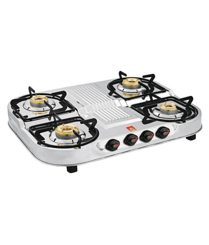 Surya Shine SUR624DB Manual Ignition Gas Cooktop (4 Burner)