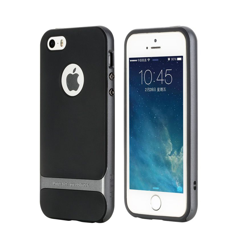 release date 2f75b 6d7b6 Rock Back Cover for Apple iPhone 5S - Black