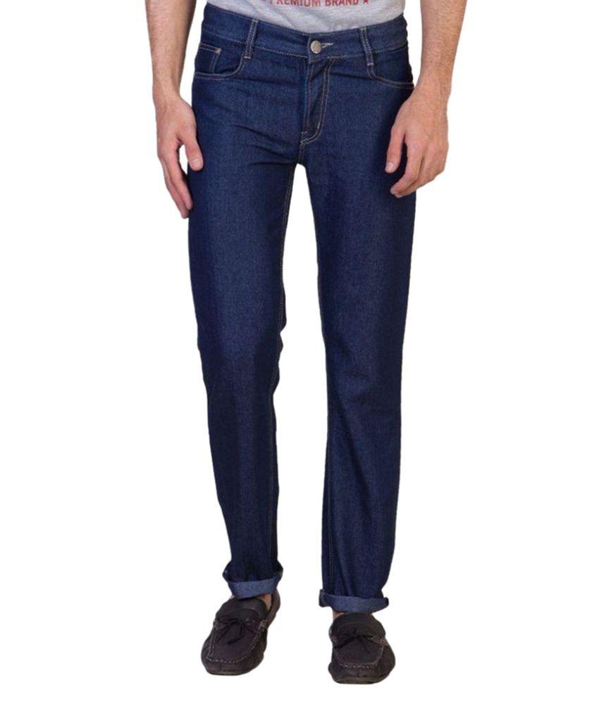 Maciej Blue Regular Fit Solid Jeans