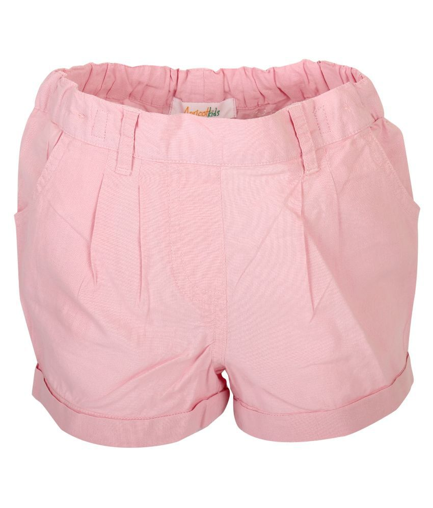 Apricot Kids Baby Pink Shorts For Girls