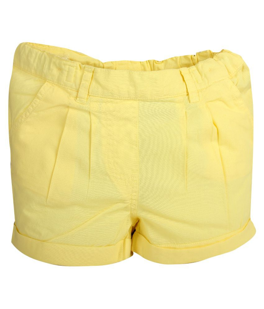 Apricot Kids Yellow Shorts for Girls