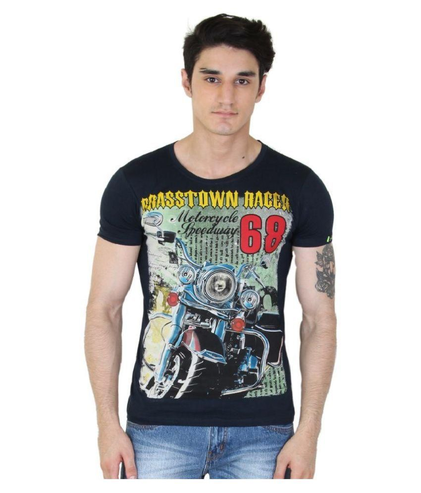 Bhanstore Blue Round T Shirt