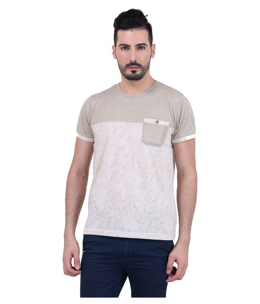 Mod Pluss Beige Round T Shirt
