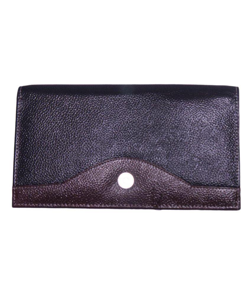 Amol Bazar Black Solid Bi Fold Wallet