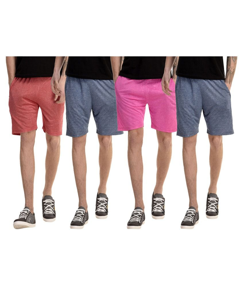 Dee Mannequin Multi Shorts Pack of 4