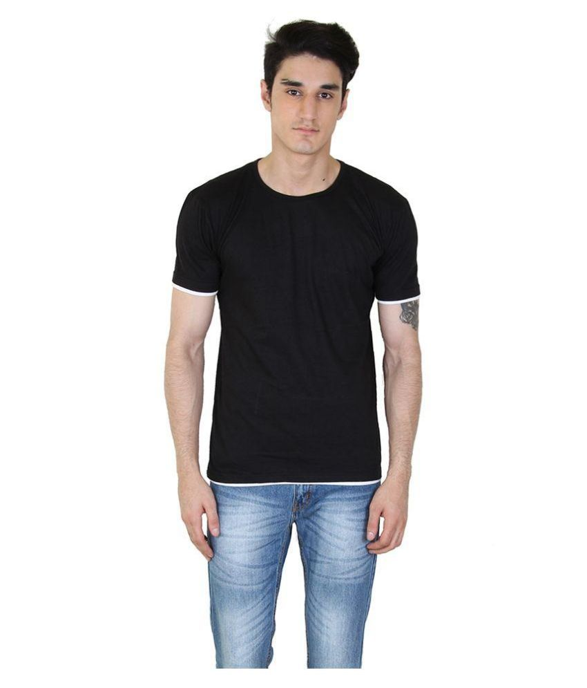 Fenoix Black Round T Shirt