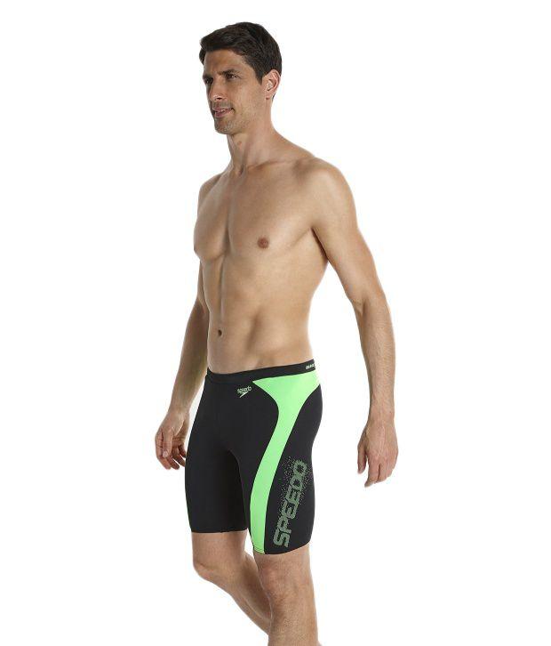 2b967021c4 ... Speedo Black Logo Graphic Splice Jammer Men Swimwear/ Swimming Costume  ...