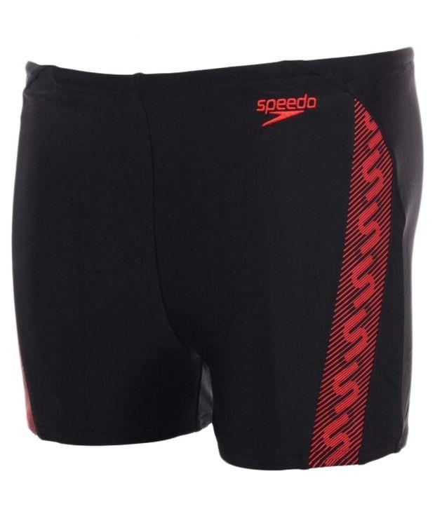 Speedo Black Monogram Aqua Shorts