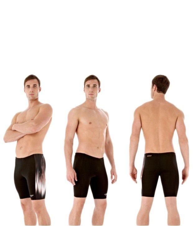 Speedo Black Powersprint Placement Panel Aqua Shorts