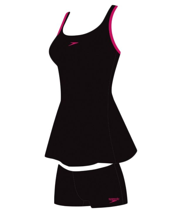 Speedo Black Racer - Back Swim Dress/ Swimming Costume