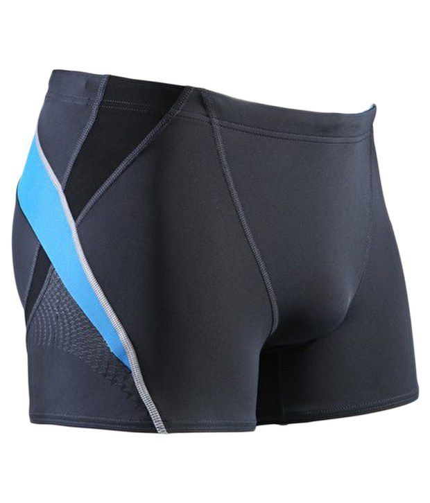 Speedo Grey Fit Splice Aqua Shorts
